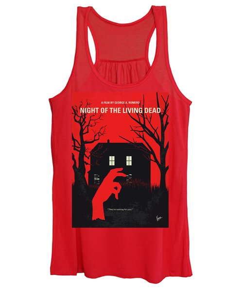 No935 My Night Of The Living Dead Minimal Movie Poster Women's Tank Top