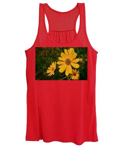 Oil Glaze Wildflowers Women's Tank Top