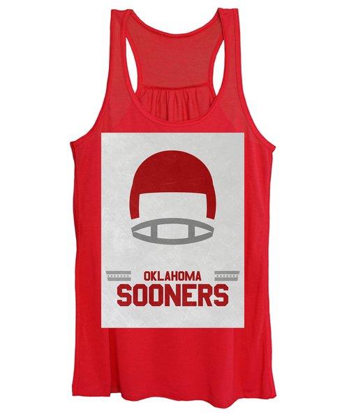Oklahoma Sooners Vintage Football Art Women's Tank Top
