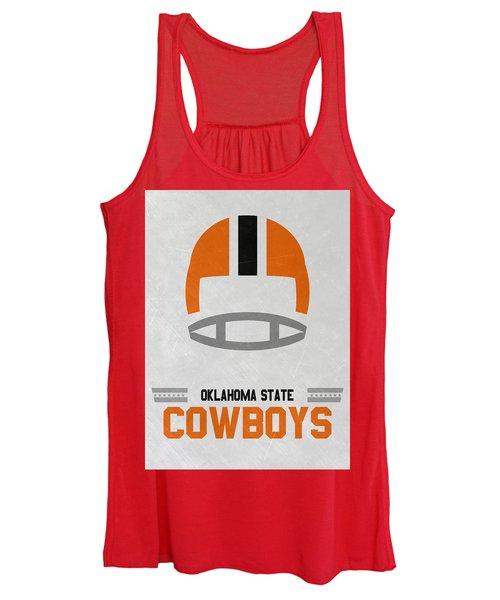 Oklahoma State Cowboys Vintage Football Art Women's Tank Top