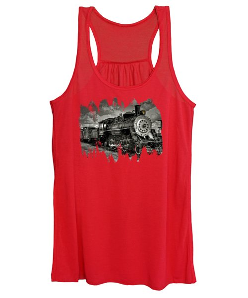 Old 104 Steam Engine Locomotive Women's Tank Top