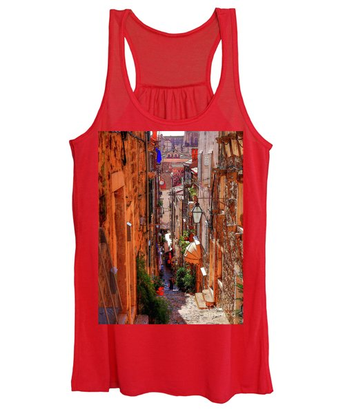 Old Town Dubrovniks Inner Passages Women's Tank Top