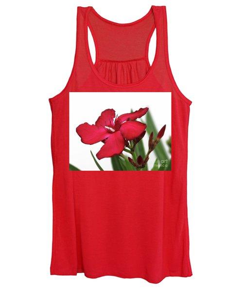 Oleander Blood-red Velvet 2 Women's Tank Top