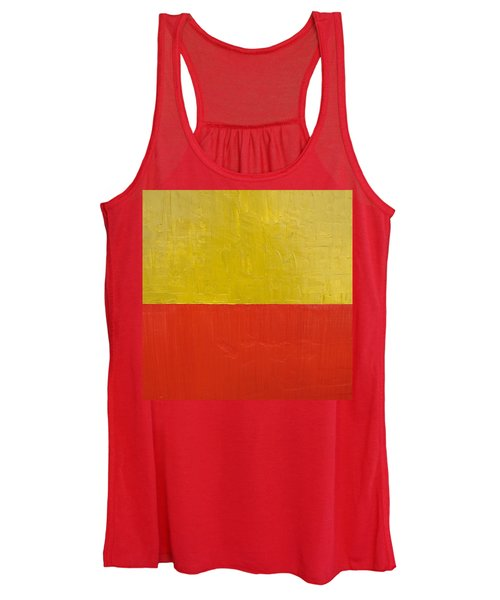 Olive Fire Engine Red Women's Tank Top