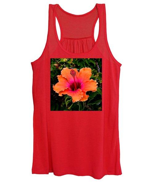Orange And Pink Hibiscus 2 Women's Tank Top