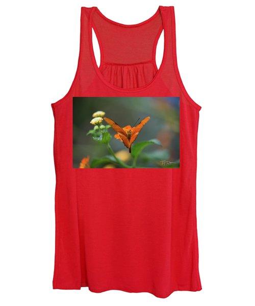 Orange Is The New Butterfly Women's Tank Top