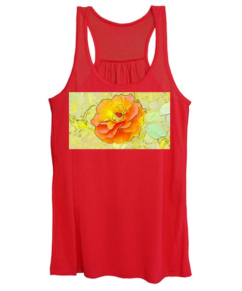 Orange Rose Women's Tank Top