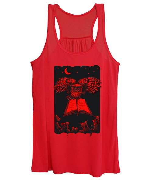 Owl And Friends Redblack Women's Tank Top