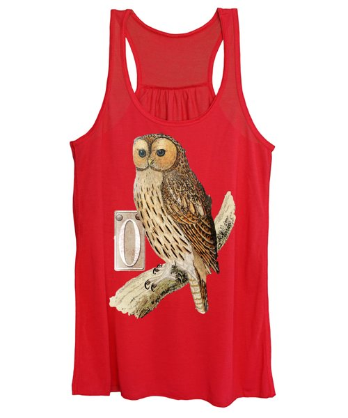 Owl T Shirt Design Women's Tank Top
