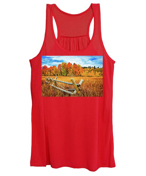 Oxbow Bend Fall Color Women's Tank Top