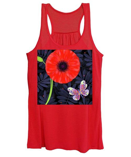 P Is For Pretty Poppy Women's Tank Top