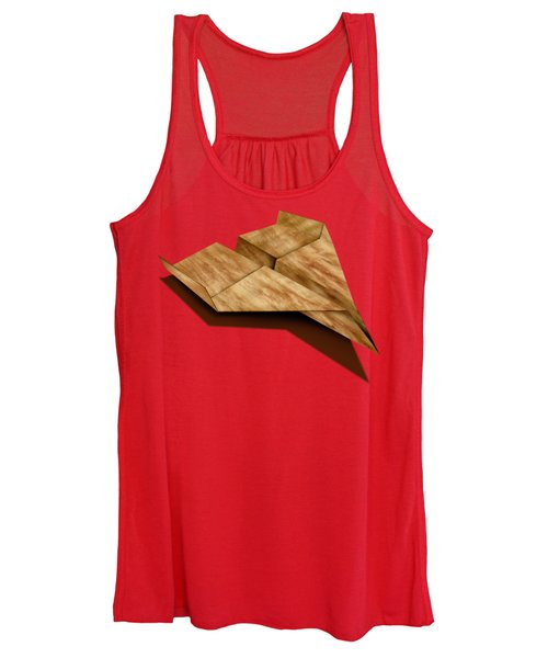 Paper Airplanes Of Wood 5 Women's Tank Top