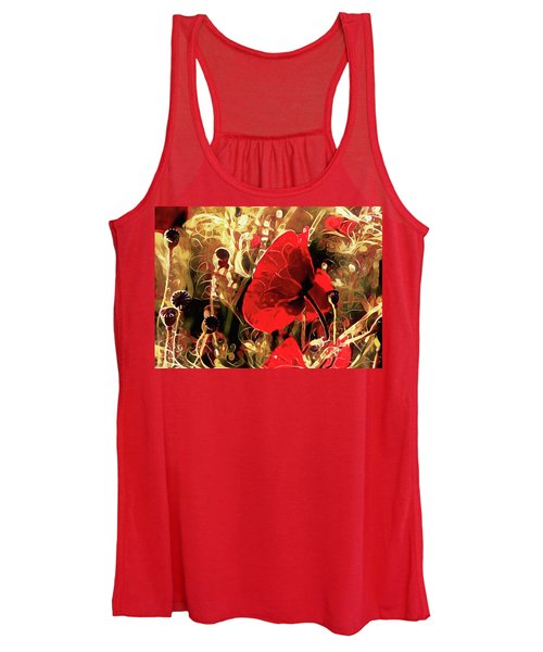 Passionate About Poppies Women's Tank Top
