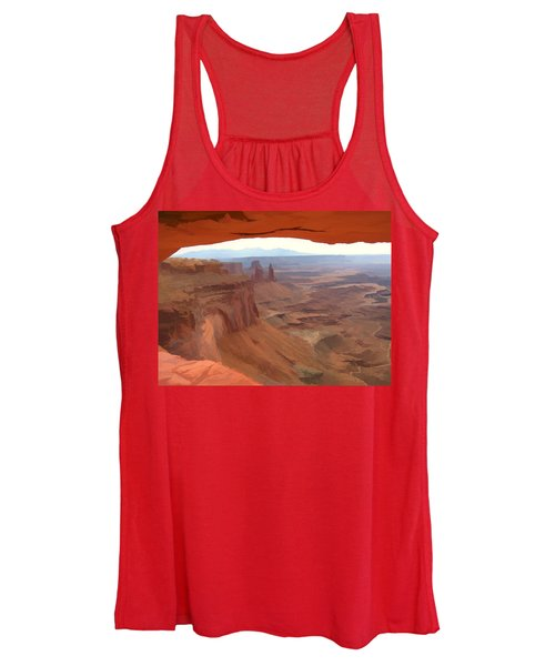 Peering Out 2 Watercolor Women's Tank Top