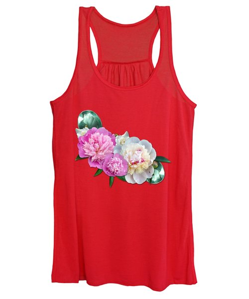 Peonies In Pink And Blue Women's Tank Top
