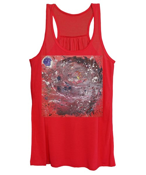 Women's Tank Top featuring the painting Perfect Storm by Michael Lucarelli