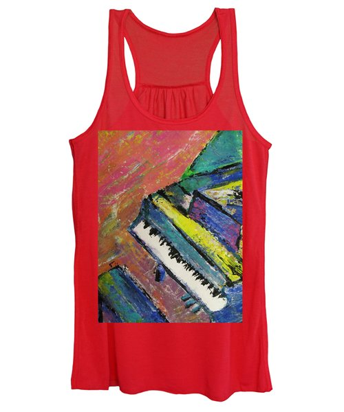 Piano With Yellow Women's Tank Top