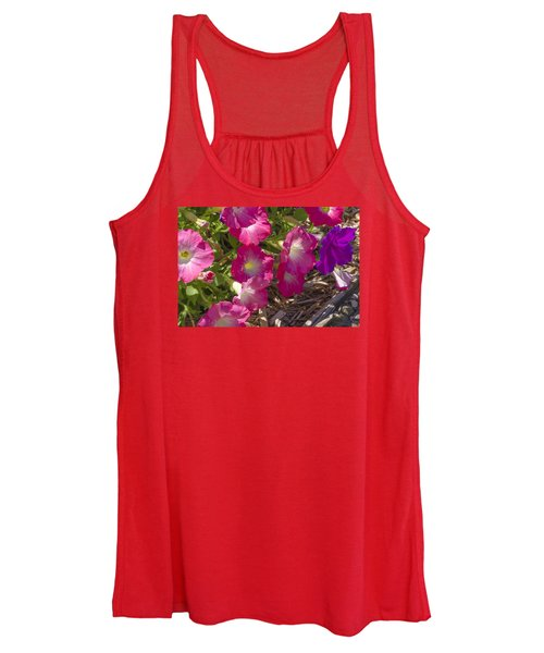 Pink And Purple Petunias Women's Tank Top