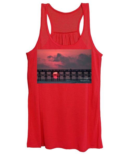 Pink Pier Sunrise Women's Tank Top