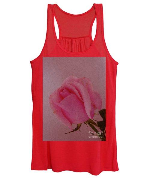 Pink Single Rose Women's Tank Top