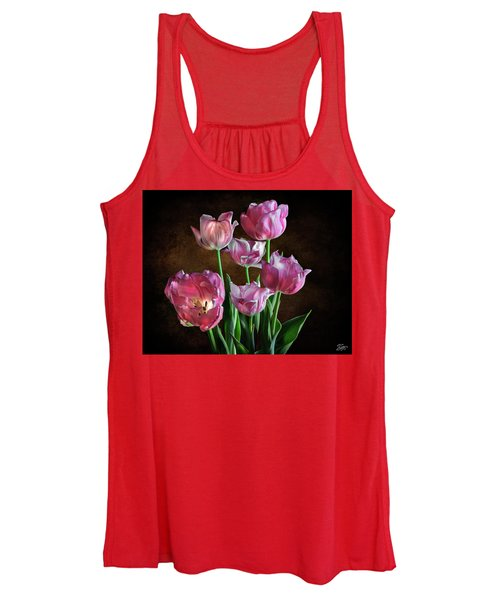 Pink Tulips Women's Tank Top