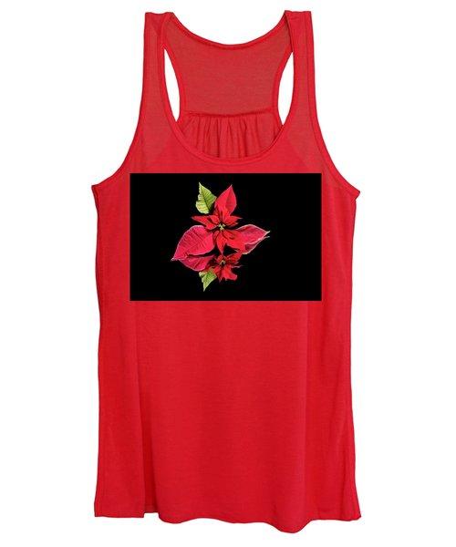 Poinsettia Reflection  Women's Tank Top