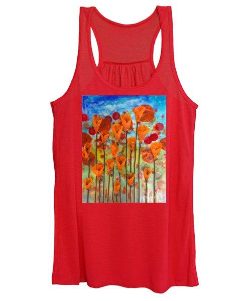 Poppies Make Me Happy Women's Tank Top