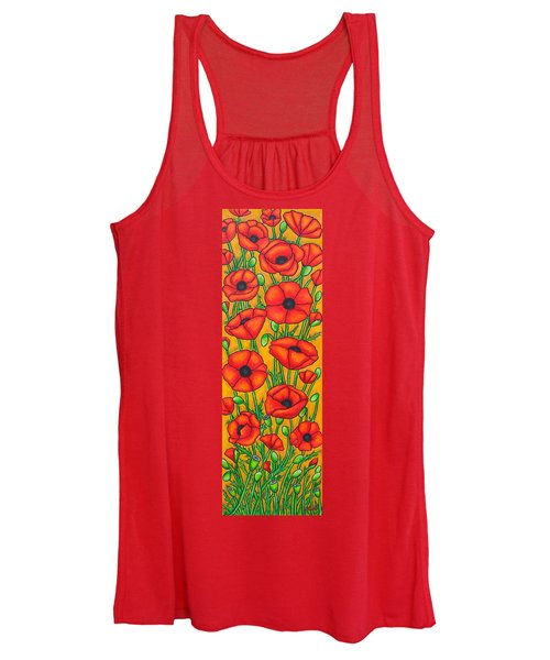 Poppies Under The Tuscan Sun Women's Tank Top