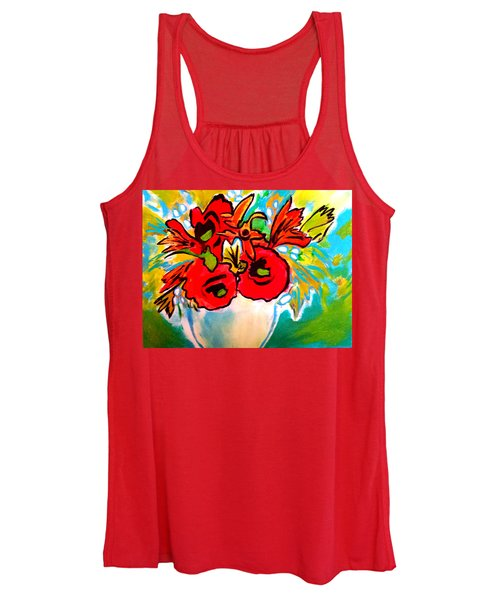 Poppy Bouquet Reworked Women's Tank Top