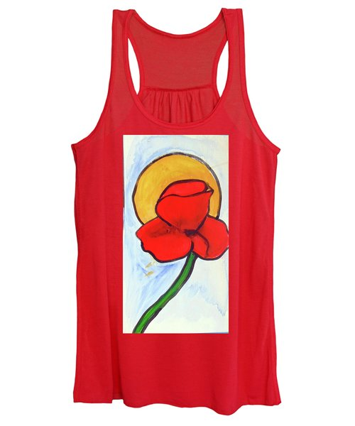 Women's Tank Top featuring the painting Poppy by Loretta Nash