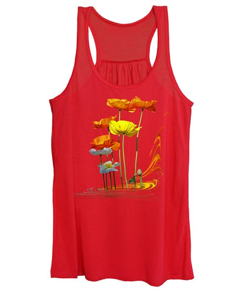 Poppy Pirouette Vertical Women's Tank Top