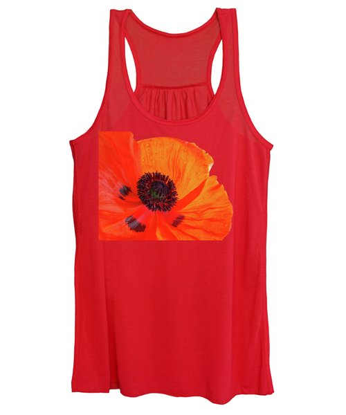 Poppy With Raindrops 3 Women's Tank Top