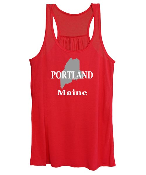 Portland Maine State City And Town Pride  Women's Tank Top