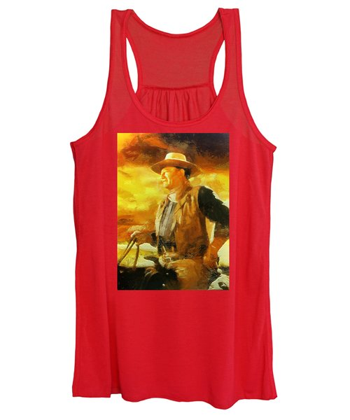 Portrait Of John Wayne Women's Tank Top