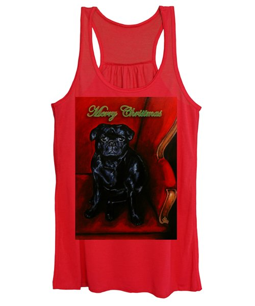 Puggsley Christmas Women's Tank Top