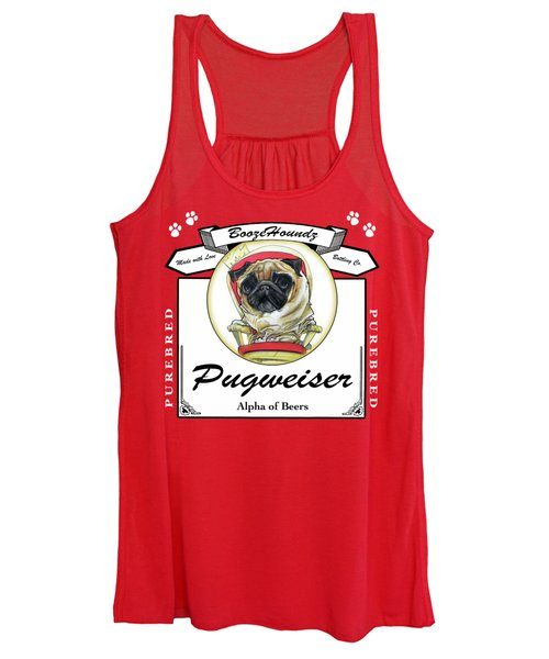 Pugweiser Beer Women's Tank Top