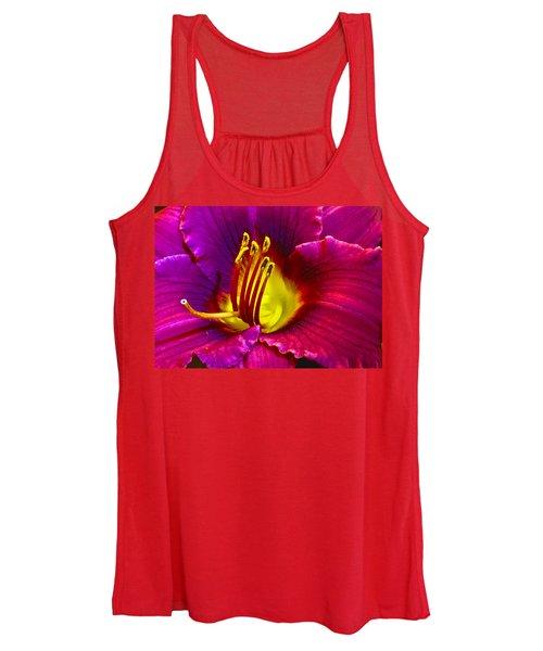 Purple Lily Women's Tank Top