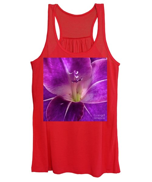Purple Orchid Close Up Women's Tank Top
