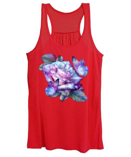 Purple Rose And Butterflies Women's Tank Top