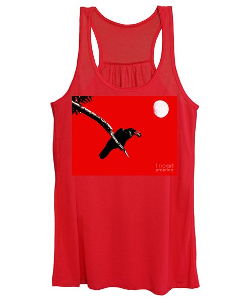 Quoth The Raven Nevermore . Red Women's Tank Top