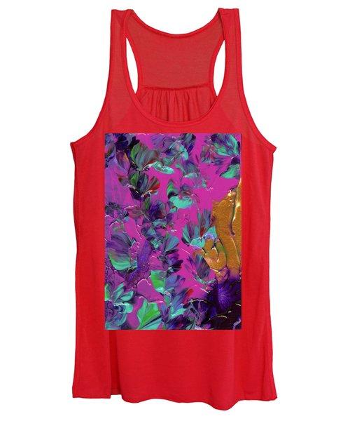 Razberry Ocean Of Butterflies Women's Tank Top