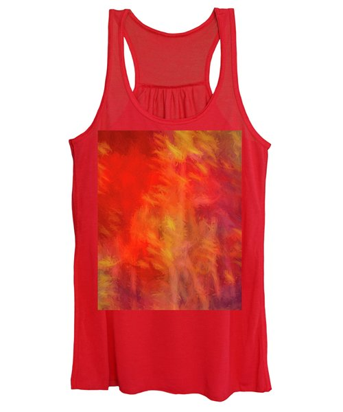 Red Abstract Women's Tank Top