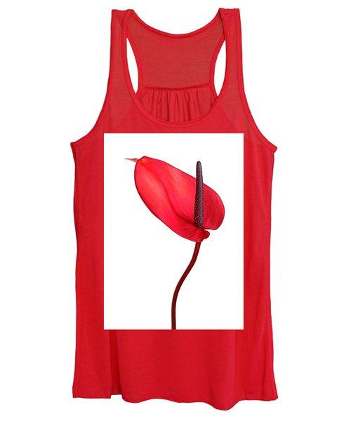 Red Anthrium Women's Tank Top