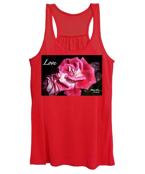 Red Beauty 3 - Love Women's Tank Top