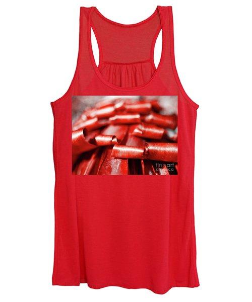 Red Curls Women's Tank Top