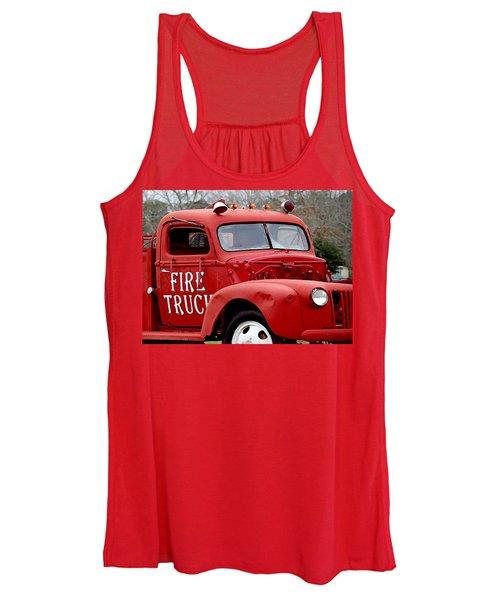 Red Fire Truck Women's Tank Top