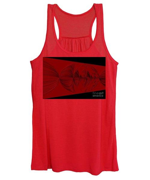 Red And Black Design. Art Women's Tank Top