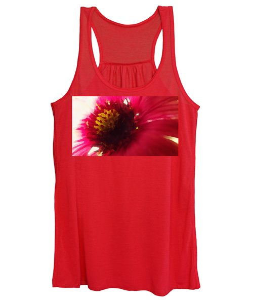 Red Flower Abstract Women's Tank Top