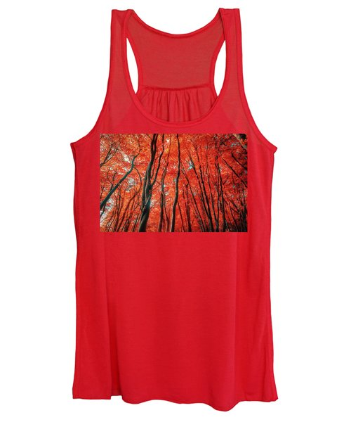 Red Forest Of Sunlight Women's Tank Top