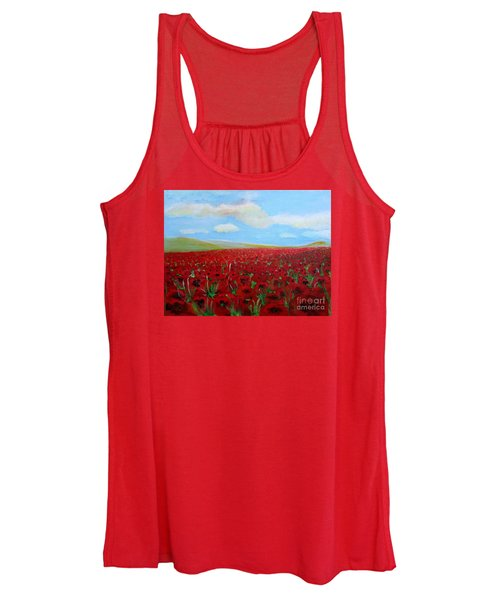 Red Poppies In Remembrance Women's Tank Top